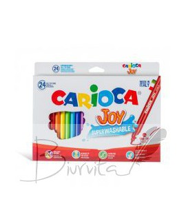 Flomasteriai CARIOCA JOY, 24 spalvos