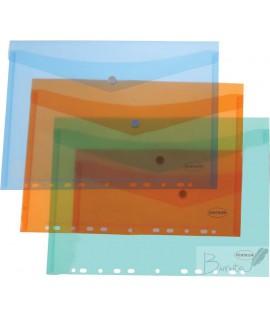 Vokas - dėklas CENTRUM, A4, su spaustuku, vertikalus, įv. spalvų