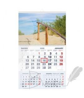Pakabinamas kalendorius Mobile Serviss KOPOS 2020 , trys viename
