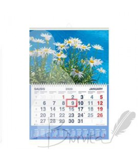 Pakabinamas vienos dalies kalendorius Mobile Serviss RAMUNĖS 2020