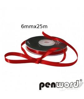 Juostelė dovanų pakavimui PENWORD , 25 m, raudona