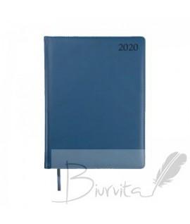 Darbo kalendorius VADOVAS EXTRA 2020, PU, A5,tamsiai mėlyna