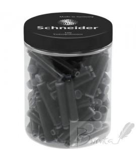 Rašalo kapsulės SCHNEIDER 100 vnt., juodos spalvos
