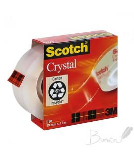 Lipni juosta SCOTCH CRYSTAL CLEAR 600 19 mm x 33 m , ypač skaidri
