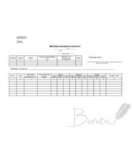 Medžiagų sandėlio apskaitos kortelė M-17
