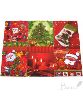 Krepšelis dovanoms kalėdinis, 33 x 26 x 9 cm, plastikinis
