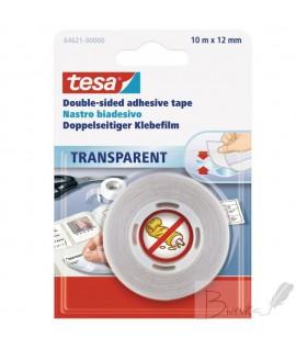 Dvipusė lipni juosta TESA , 12 mm x 10 m, skaidri