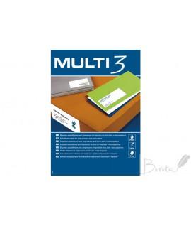 Lipnios etiketės MULTI-3, 105 x 37 mm, A4, 16 lipdukų lape, 100 lapų
