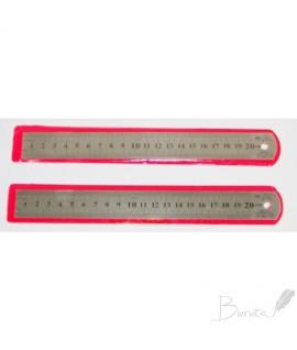 Liniuotė HERMESS, metalinė, 20 cm