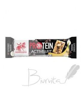 Proteino batonėlis HERCULESS su juoduoju šokoladu ir bananais,35 g