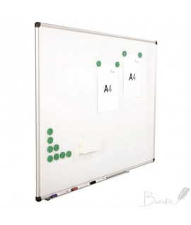 Baltoji magnetinė lenta ROCADA,120 x 180 cm,aliuminio rėmas, lakuotas paviršius