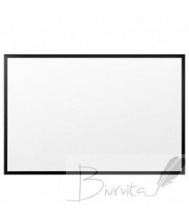 Baltoji magnetinė lenta 2x3 eco Boards , 30 x 40 cm, medinis rėmas dažytas juodai
