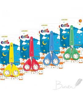 Žirklės vaikams de Vente Cosmo 13 cm, su platikiniu dangteliu