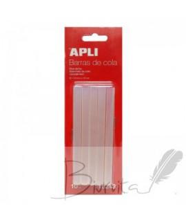 Karštų klijų lazdelės APLI, skaidrios,7,5 mm, 10 vnt.