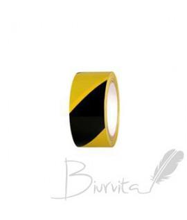 Lipni signalinė juosta grindims 50 mm x 33 m, geltona/juoda
