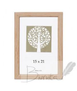 Rėmelis SAVEX Aura, plastikinis, 15 x 21 cm, medžio sp.
