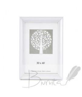 Rėmelis SAVEX Pavasaris, medinis, 30 x 40 cm, balta sp., be kojelės