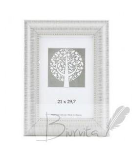 Rėmelis SAVEX Niko, plastikinis, A4, 21 x 29,7 cm, balta sp., platus rėmas su ornamentais
