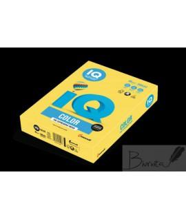 Biuro popierius IQ, CY39 A4, 80 g. 500 lapų, kanarėlių geltona sp.