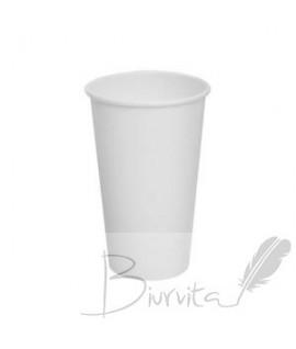 Vienkartiniai popieriniai puodeliai 300 ml, 50 vnt. balta sp.