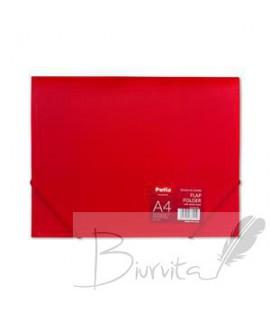 Aplankas dokumentams PATIO PP, A4, su gumele, raudona