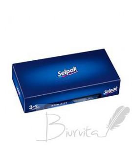 Vienkartinės nosinaitės SELPAK Standart, 3 sl. 50 serv. pakelyje