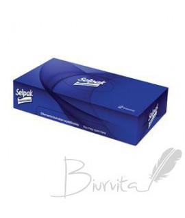 Vienkartinės nosinaitės veidui SELPAK Pro Premium, 3 sl. 50 serv. dėžutėje,6 vnt.