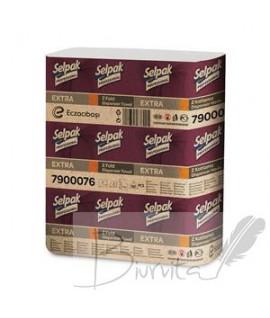 Popierinis rankšluostis SELPAK, Pro ExtraZ-Fold dispenseriui, 2 s.12 pak.