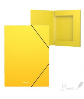 Aplankas - dėžutė su gumele ErichKrause, A4. 30 mm, geltona