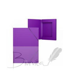 Aplankas - dėžutė su gumele ErichKrause, A4. 30 mm, violetinė