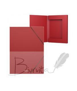 Aplankas - dėžutė su gumele ErichKrause, A4. 30 mm, raudona
