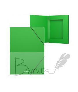 Aplankas - dėžutė su gumele ErichKrause, A4. 30 mm, žalia