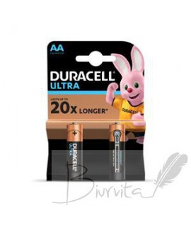 Baterijos DURACELL ULTRA AA 2nt.
