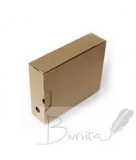 Archyvinė dėžė SMLT, A4, 247 x 82 x 305 mm , ruda