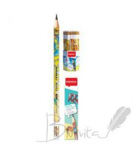 Pieštukas NATARAJ, HB. su trintuku, padrožtas