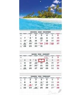 Pakabinamas kalendorius TIMER TRIO EXTRA, 3 dalių (su spiralėmis)