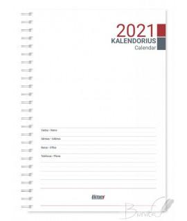 Papildas -kalendorius TIMER SPIREX WEEK, A5, 2021 m.