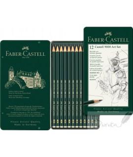 Pieštukų rinkinys eskizavimui FABER CASTELL 9000 Art Set, 12 vnt.