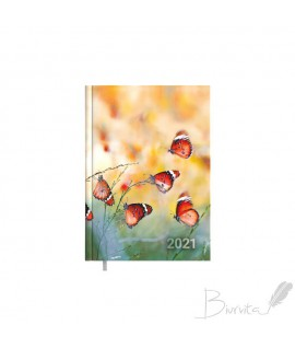 Darbo kalendorius TIMER Business Day Design, A5, Butterfly