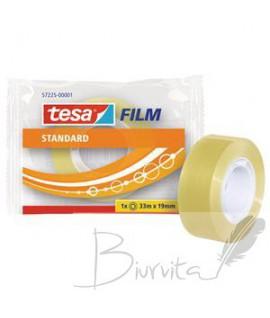 Skaidri lipni juostelė TESA Standard 19 mm x 33 m, 1 vnt.