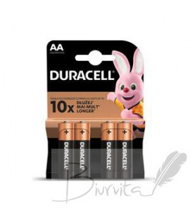 Baterijos DURACELL LR6/AA 4 vnt.