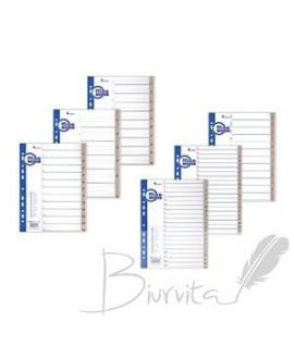 Skiriamieji lapai FORPUS A4 MAXI , A-Z, plastikiniai