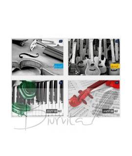 Natų sąsiuvinis INTERDRUK, A4, A4, 16 lapų, horizontalus