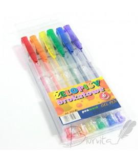 Rašiklių rinkinys PENWORD 6 spalvos