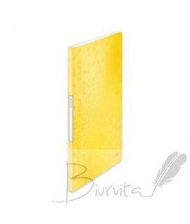 Aplankas LEITZ WOW su 20 įmaučių, geltonas