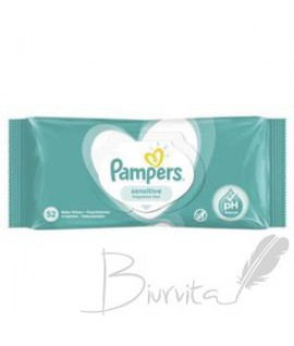 Servetėlės PAMPERS Sensitive, 52vnt