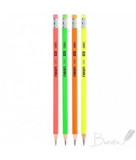 Grafitinis pieštukas DELI NEON, HB, su trintuku