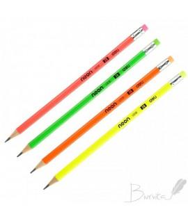 Grafitinis pieštukas DELI NEON, 2B, su trintuku