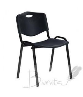 Kėdė NOWY STYL, ISO BLACK, plastikas, juoda