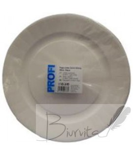 Vienkartinės lėkštės PROFI, popierinės, baltos, D 29 cm, 25 vnt.